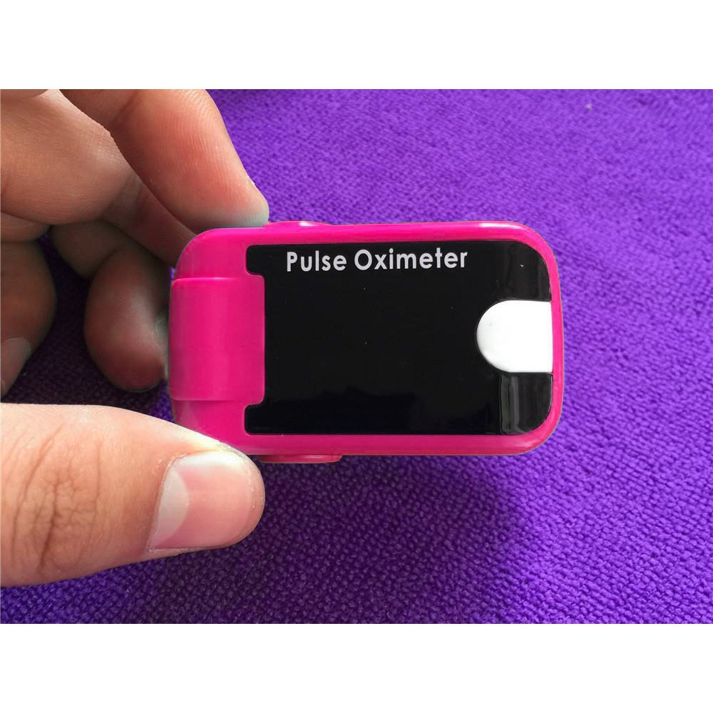 Fingertip Pulse Oximeter with Audio Alarm Sound (pink), B...