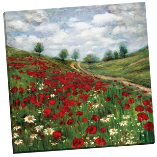 Portfolio Canvas Decor 'Red Poppy Vista' Gallery Wrapped Canvas by Sandy Doonan