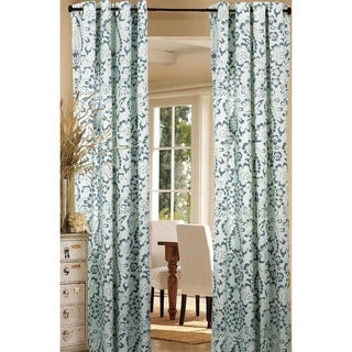 Harlequin Flower Design Grey Double Panel Curtain Pair