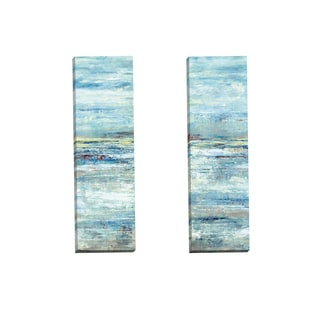 Portfolio Canvas Decor 'Lakeside Clouds Panel I' Gallery Wrapped Canvas by D. Davis (Set of 2)