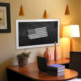 American Made Rayne Glossy White Blackboard/Chalkboard
