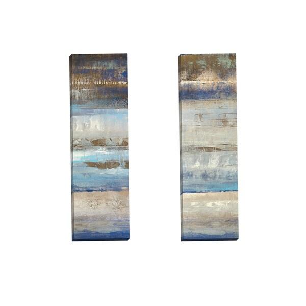 Portfolio Canvas Decor 'Blues Horizon Panel I' Gallery Wrapped Canvas by Michael Longo (Set of 2)