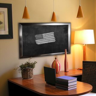 American Made Rayne Silver Rounded Blackboard/Chalkboard