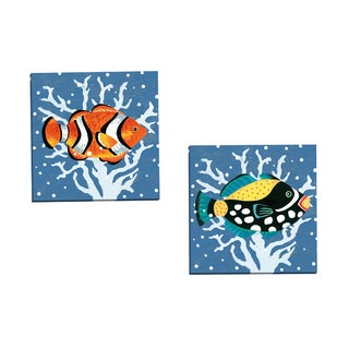Portfolio Canvas Decor 'Clown Triggerfish' Gallery Wrapped Canvas by Jennifer Brinley (Set of 2)