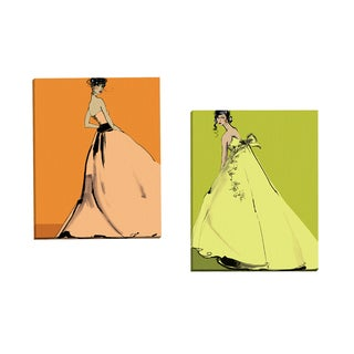 Portfolio Canvas Decor 'Grace I' Gallery Wrapped Canvas by Ashley David (Set of 2)