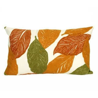 "Cut Leaves Throw Pillow (12"" x 20"")"
