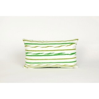 "Swirl Stripe Throw Pillow (12"" x 20"")"