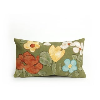 """Watercolor Flowers Throw Pillow (12""""x20"""")"""