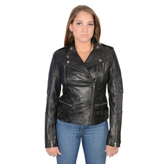 Women's Lambskin Leather Quilted Jacket