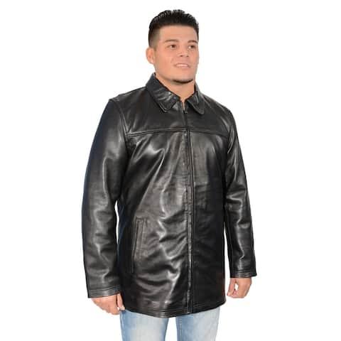 Men's Lambskin Leather Classic Zipper Front Jacket