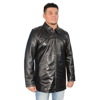 Men's Lambskin Leather Classic Zipper Front Jacket