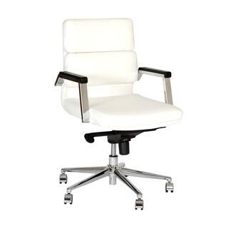 Armen Living Fabian Leatherette/ Chrome Modern Swivel Office Chair