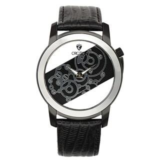 Croton Men's CR307931BSSK Stainless Steel Black See Thru Dial Watch