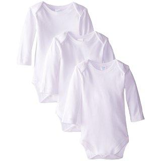 Spasilk White Long-sleeve Bodysuit (3 Pack)