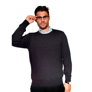 Men's Classic Braga Pure Merino Sweater (Option: Brown)
