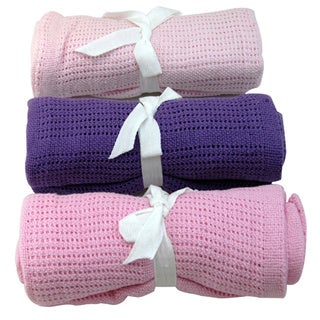Snuggle Cellular Baby Cotton Blanket