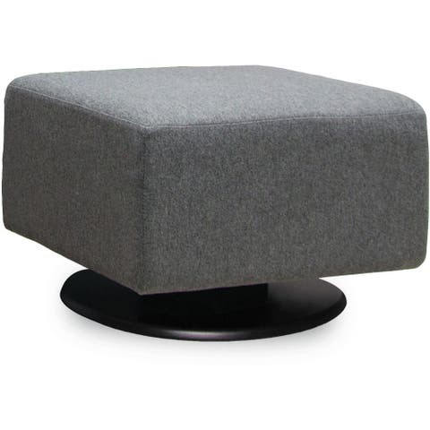 Dutailier Lungo Upholstered Gliding Ottoman