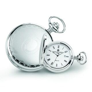 Versil Men's Charles Hubert Stainless Steel Oval Design Pocket Watch