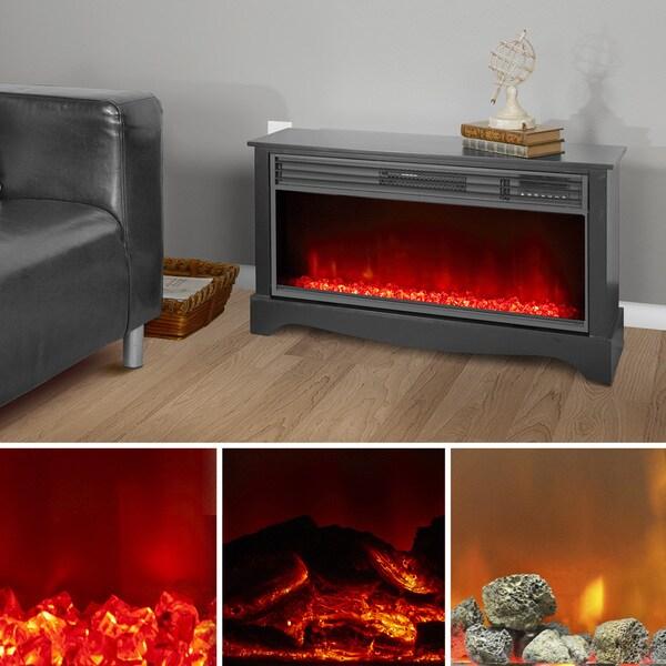 Lifesmart Lifelux Extra Large Room 48-inch Media Center Fireplace ...
