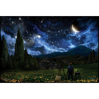 Starry Night (24-inch x 36-inch) On a Woodmount