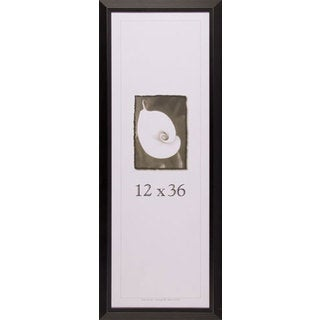 Black Wide Picture Frame 12x36