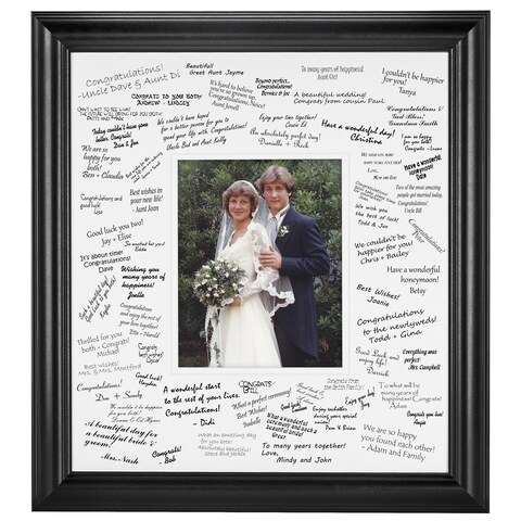 Wedding Signature Mat set for 8x10 photo