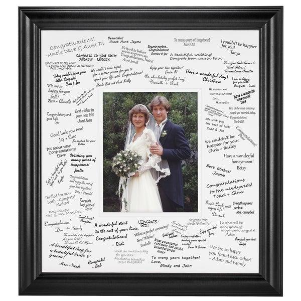 Wedding Signature Mat set for 8x10 photo