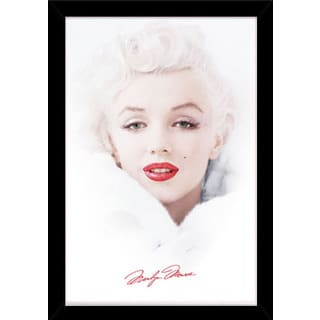 Marilyn Monroe - White Print (24-inch x 36-inch) with Contemporary Poster Frame