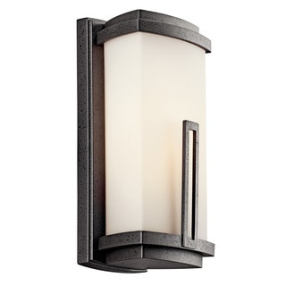 Kichler Lighting Leeds Collection 1-light Anvil Iron Outdoor Wall Lantern