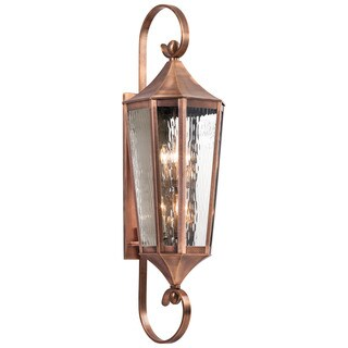 Kichler Lighting Rochdale Collection 6-light Antique Copper Outdoor Wall Lantern