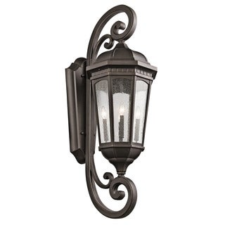 Kichler Lighting Courtyard Collection 4-light Rubbed Bronze Outdoor Wall Lantern