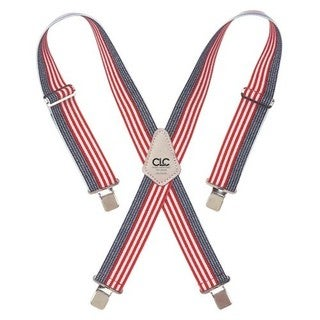 CLC Heavy-Duty Elastic Suspenders, USA Flag Print