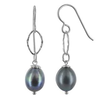 Ashanti Gray Freshwater Pearl Sterling Silver Handmade Earrings