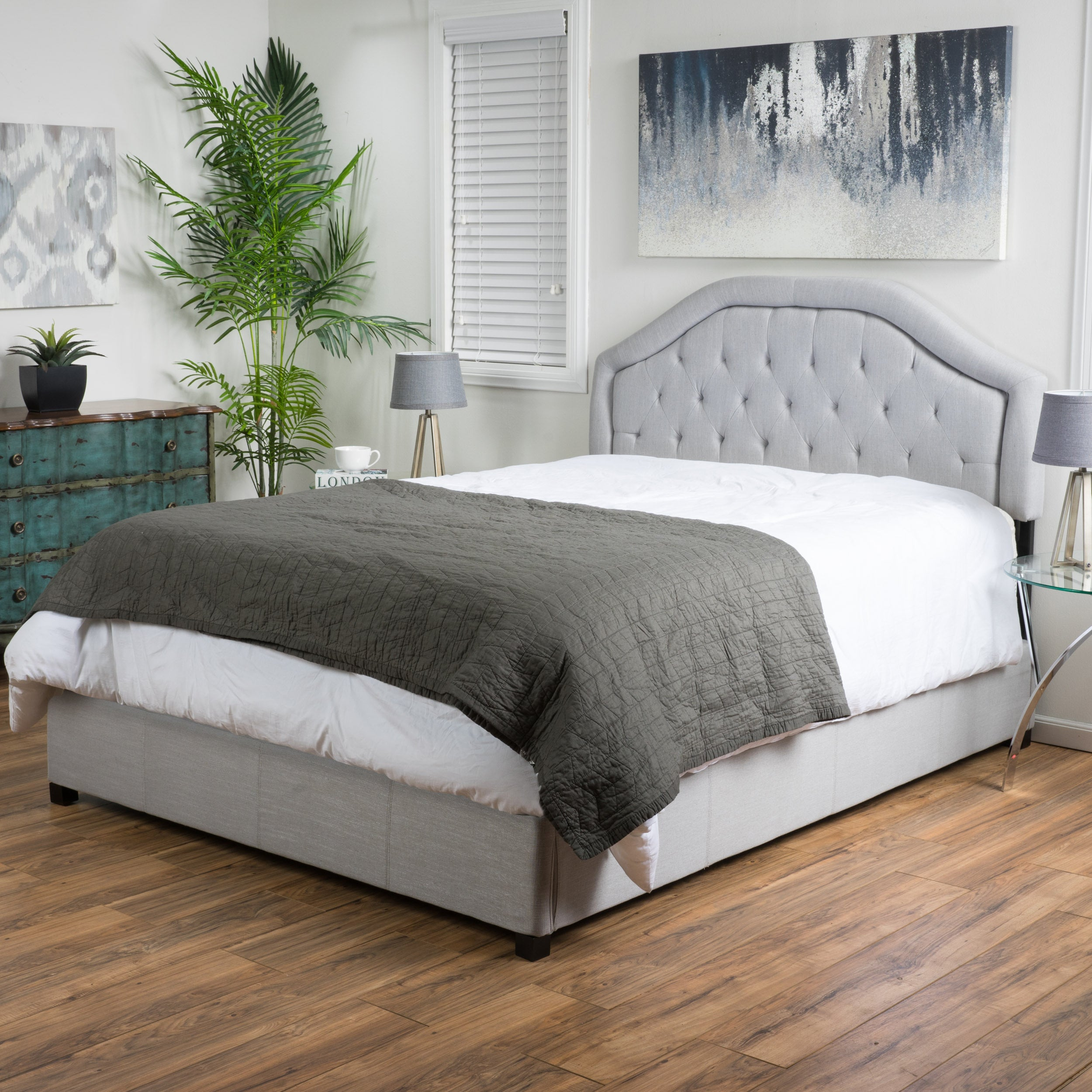 Angelica Tufted Upholstered Bed by Christopher Knight Hom...