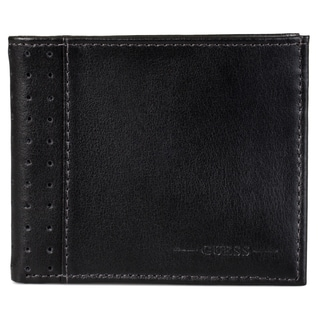 Guess Men's Genuine Leather ID Billfold Wallet