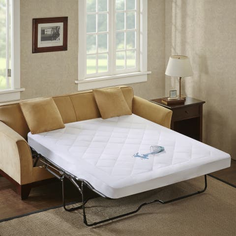 Sleep Philosophy Amity Waterproof Sofa Bed Pad with 3M Moisture Management - White