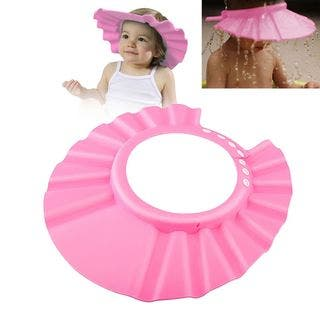Zodaca Adjustable Soft Rubber Shampoo Bathing Baby Shower Cap|https://ak1.ostkcdn.com/images/products/10618254/P17688684.jpg?impolicy=medium