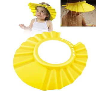 Zodaca Adjustable Soft Rubber Shampoo Bathing Baby Shower Cap (Option: Yellow)