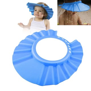 Zodaca Adjustable Soft Rubber Shampoo Bathing Baby Shower Cap (Option: Blue)