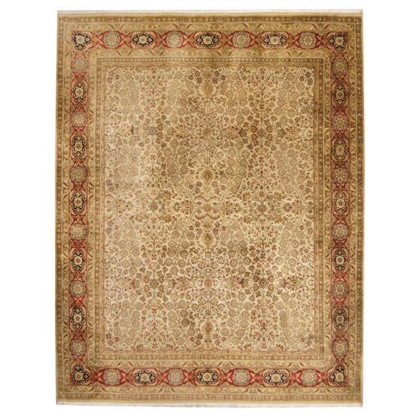Handmade Herat Oriental Indo Kerman Wool Rug - 7'9 x 10' (India)