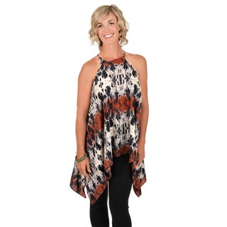 Timeless Comfort by Journee Women's Sleeveless Asymmetrical Hem Tunic Top