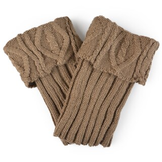 Journee Collection Women's Solid Cable Knit Boot Cuffs