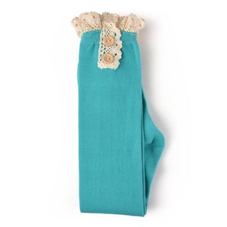 Journee Collection Women's Long Lace and Button Boot Socks