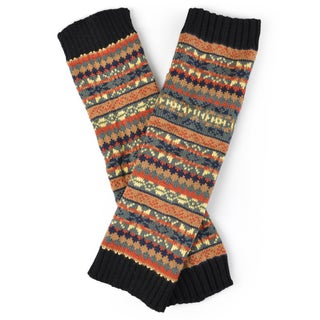 Journee Collection Women's Knit Printed Leg Warmers