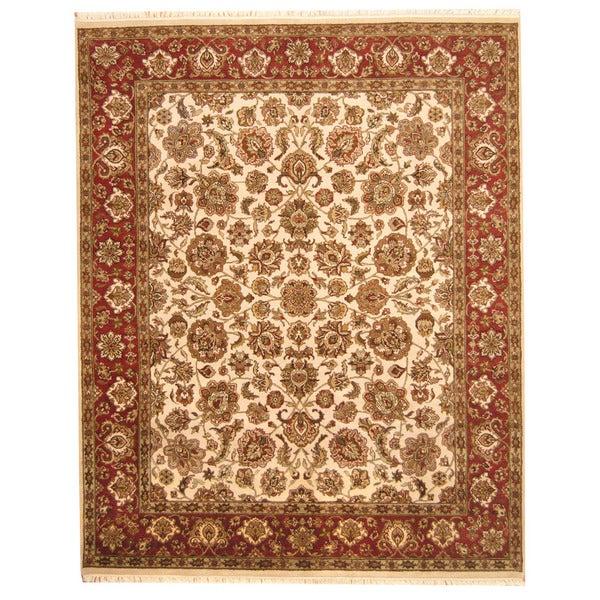Handmade Herat Oriental Indo Mahal Wool Rug - 8' x 10' (India)