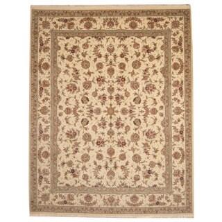 Herat Oriental Indo Hand-knotted Tabriz Wool & Silk Rug (8' x 10')