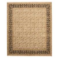 Handmade Herat Oriental Indo Tabriz Wool Rug  - 8'2 x 9'8 (India)