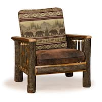 Rustic Hickory Arm Chair Bear Mt. Fabric