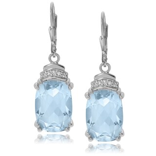 Journee Collection Sterling Silver 10 5/8 ct Topaz Dangle Earrings