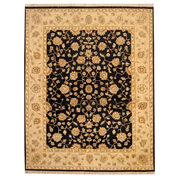 Handmade Herat Oriental Indo Oushak Wool Rug - 7'10 x 9'10 (India)